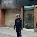 A branch of Miss Selfridge shop on fire in Manchester city centre